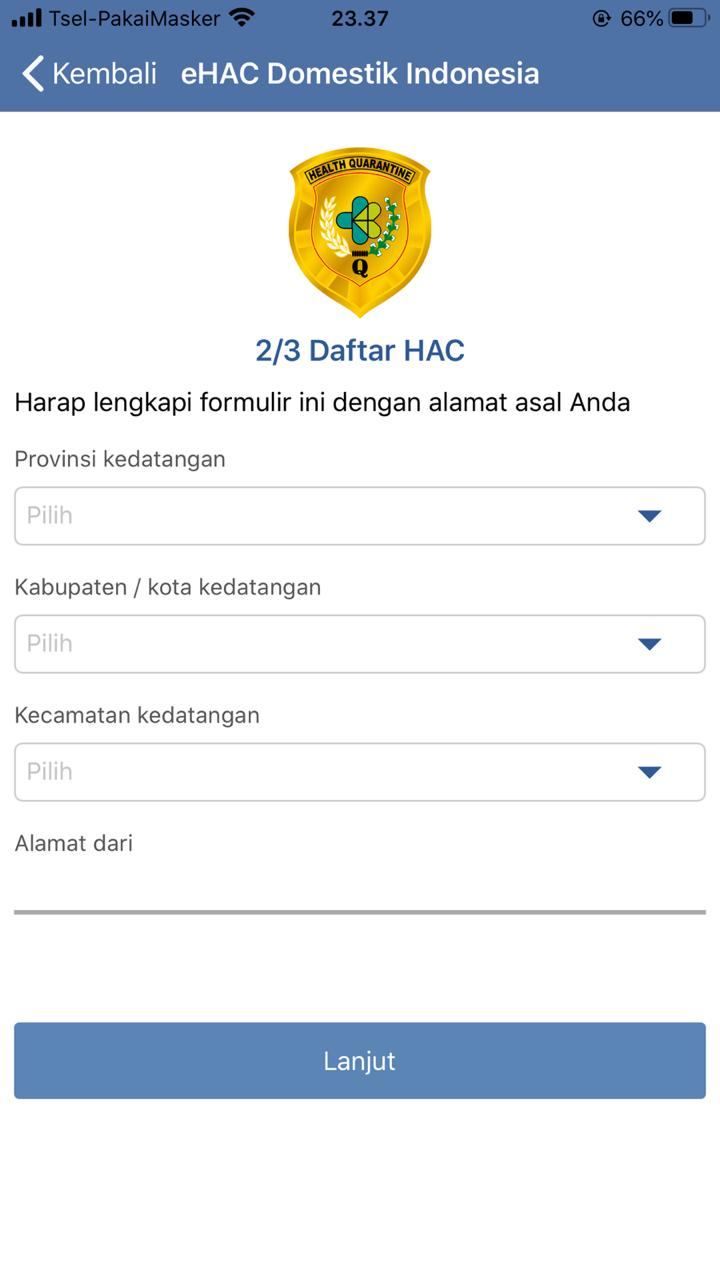 Cara Mengisi Aplikasi e-HAC Saat Terbang